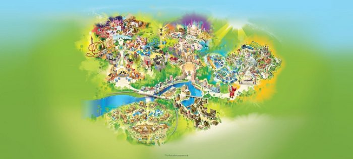 dubai parks resorts map hotels